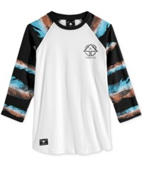 Lrg Men's Feather Raglan Sleeve T Shirt Black