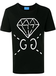Gucci Diamond Print T Shirt Black