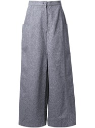 Anrealage Square Till Cropped Pants Grey