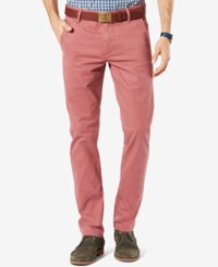 Dockers Alpha Khaki Slim Tapered Stretch Pants Washed Red