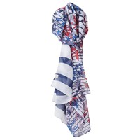 Joules Wensley Scarf White Multi