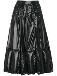Moncler Pleated And Quilted Midi Skirt Black