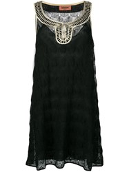 Missoni Embroidered Neck Dress Black