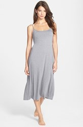 Natori Women's 'Shangri La' Scooped Back Knit Gown Heather Grey