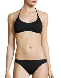 Polo Ralph Lauren Crotched Halter Swim Top Black