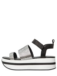Dkny 50Mm Valene Crackled Leather Sandals