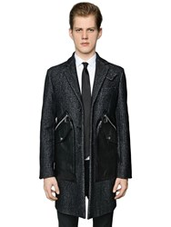Dsquared Tokyo Wool Coat W Leather Pockets