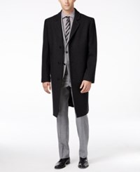 London Fog Big And Tall Signature Wool Blend Overcoat Charcoal
