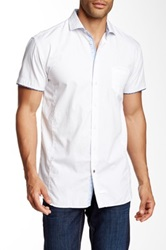English Laundry Short Sleeve Solid Woven Shirt White