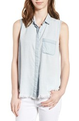 Women's Dl1961 N7th And Kent Sleeveless Chambray Shirt