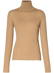 Burberry Embroidered Logo Roll Neck Jumper 60