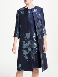 Bruce By Bruce Oldfield Jacquard Print Frock Coat Navy Ivory