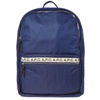 A.P.C. Sally Tape Logo Backpack Blue