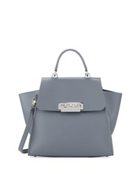 Zac Posen Eartha Iconic Leather Satchel Medium Blue