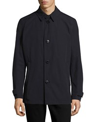 Strellson Button Front Solid Shirt Dark Blue