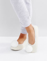Carvela Pompom Slipper Cream