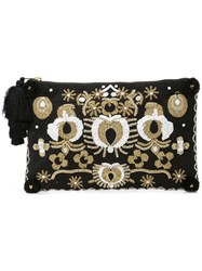 Figue Soma Pouch With Lynx Beading Black