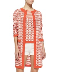 Missoni Long Floral Weave Cardigan