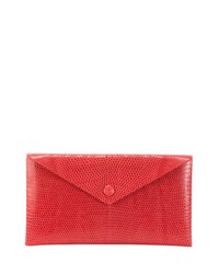 Alaia Louise Lizard Envelope Clutch Bag Pink