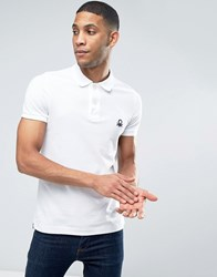 United Colors Of Benetton Short Sleeve Polo Shirt In Slim Fit White 101