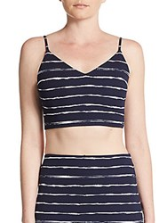Saks Fifth Avenue Red Striped Bralette Top Navy Ivory