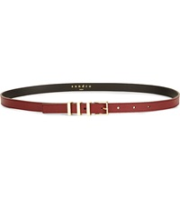 Sandro Ariane Leather Belt Burgundy