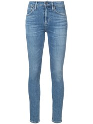 Citizens Of Humanity Skinny Jeans Women Cotton Polyester Spandex Elastane 24 Blue