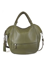 Sanctuary Leather Satchel Bag Green