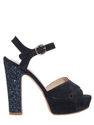 Strategia 120Mm Suede And Glitter Sandals