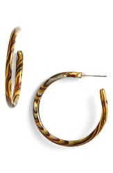 Women's L. Erickson Hoop Earrings Onyx
