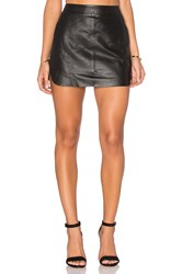 Karina Grimaldi Jacob Leather Skirt Black