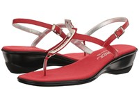 Onex Valencia Red Leather Women's Sandals