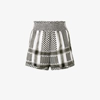 Cecilie Copenhagen Keffiyeh High Waisted Shorts White