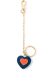 Marc By Marc Jacobs Heart Pendant Keychain Blue