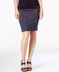 Michael Kors Pinstripe Pencil Skirt New Navy
