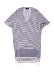 Su Tipam V Neck Tasseled Striped Kaftan