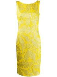 Aspesi Fitted Shift Midi Dress Yellow