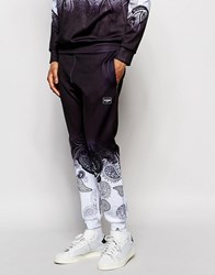 Jaded London Joggers With Ombre Paisley Print Black