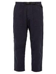 Gramicci Belted Cotton Twill Trousers Navy