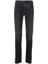 Marcelo Burlon County Of Milan Side Stripe Skinny Jeans Black