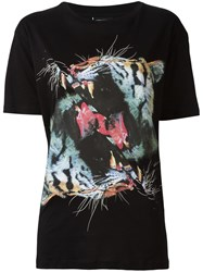 Marcelo Burlon County Of Milan Tiger Print T Shirt Black
