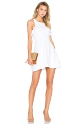 Bcbgeneration High Neck Ruffled Dress White