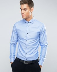 Jack And Jones Premium Long Sleeve Slim Smart Shirt Cashmere Blue