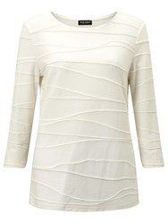 Gerry Weber Textured Jersey Top Ecru