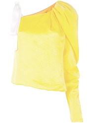 Hellessy One Shoulder Blouse Yellow