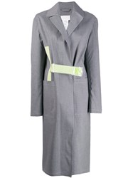 Mackintosh Maison Margiela Grey Bonded Cotton Single Breasted Trench