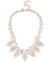 Inc International Concepts Crystal Oval Clusters Statement Necklace Only At Macy's Rose Gold