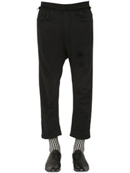 Haider Ackermann Cropped Cotton Jogging Pants