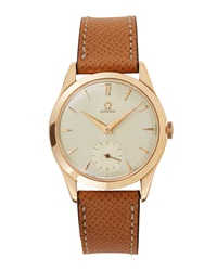 Goodman's Vintage Watches Omega 18K Rose Gold Round Dress Watch C. 1950S