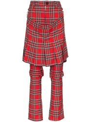 Ashley Williams Layered Tartan Straight